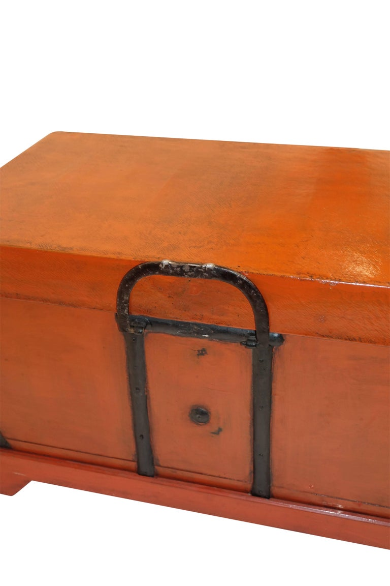 Pair of Lacquered Trunks or Tables on Custom Stands, Japanese 19th Century For Sale 1