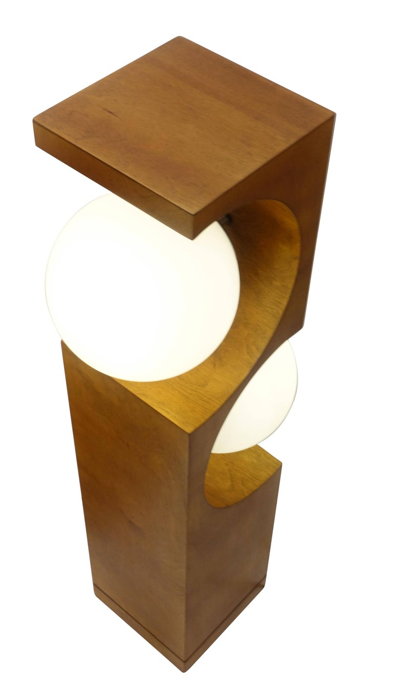 Pair of Mid-20th Century Milo Baughman Wood Cut-Out Lamps For Sale 2