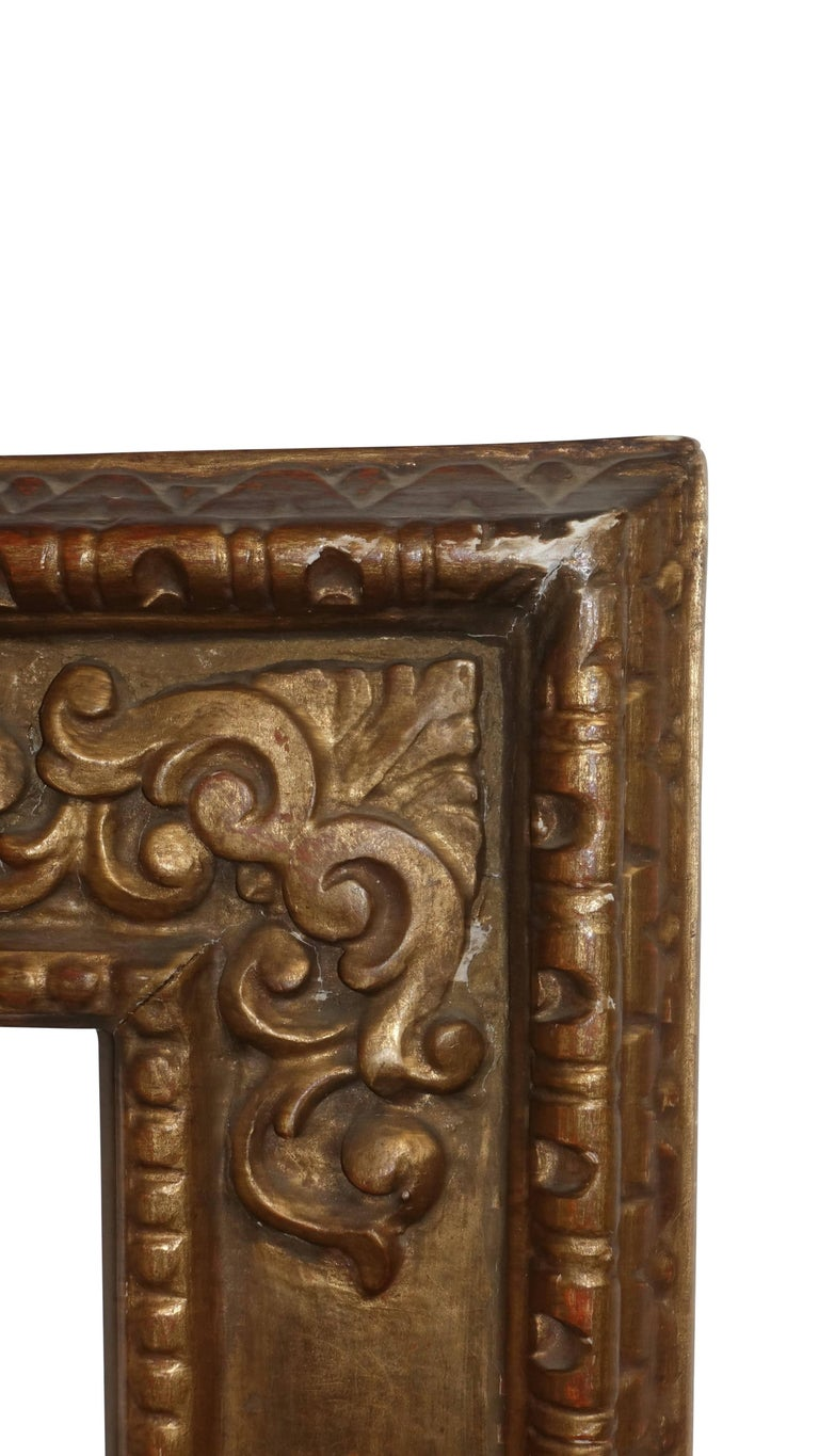 18th Century Spanish Colonial Carved and Gilt Frame In Good Condition For Sale In San Francisco, CA