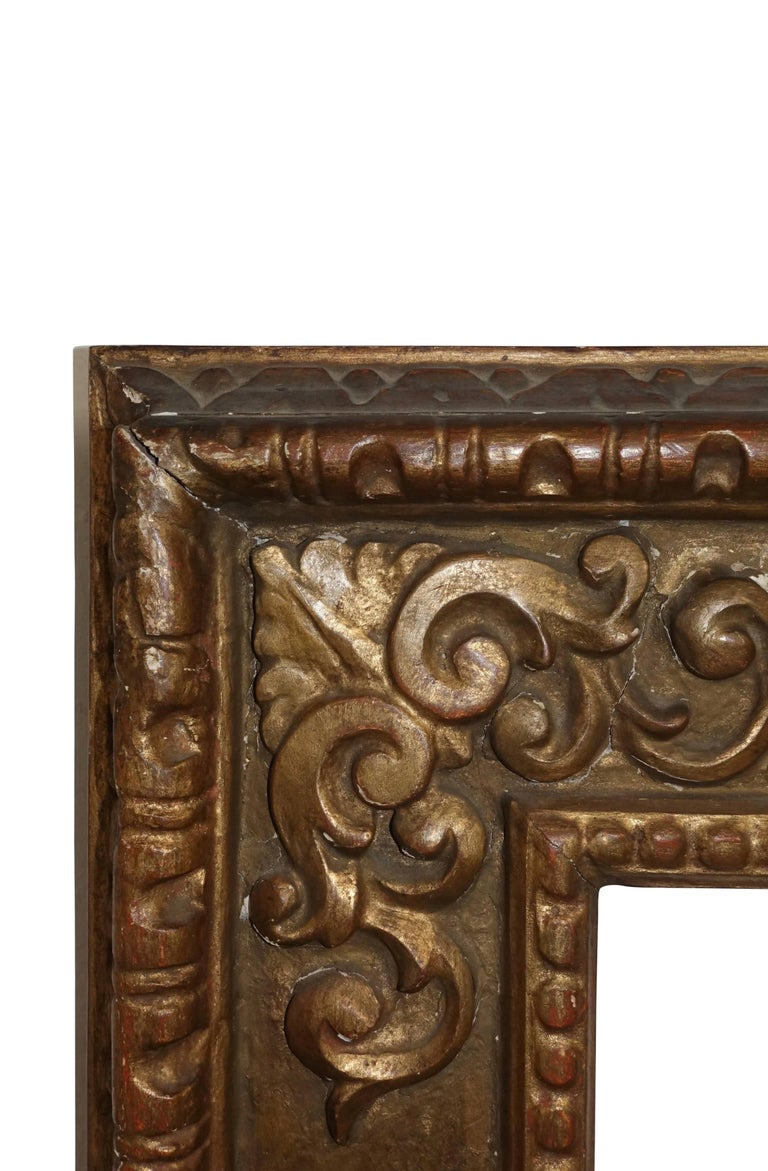18th Century and Earlier 18th Century Spanish Colonial Carved and Gilt Frame For Sale