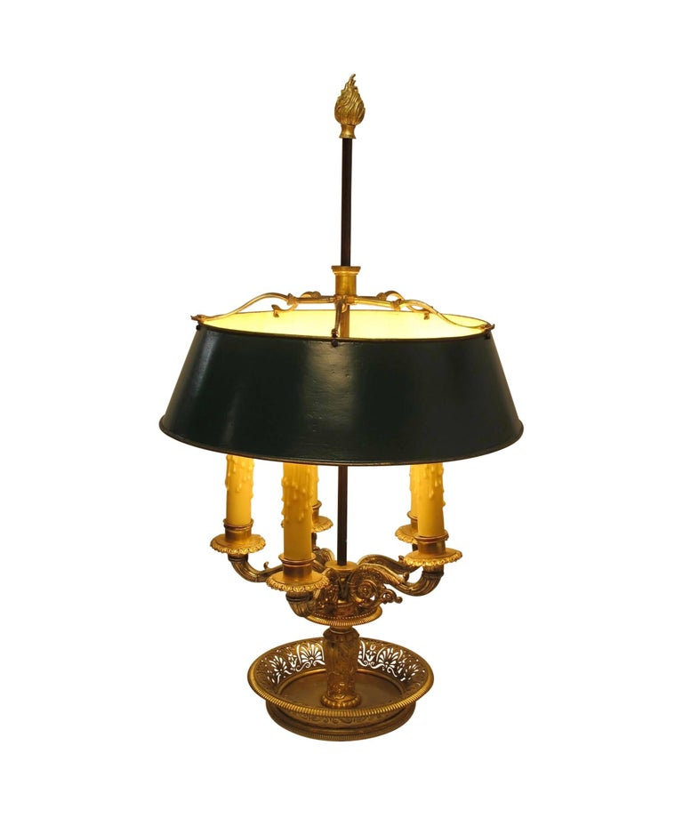 Gilt Bronze Bouillotte Lamp, French, 19th Century For Sale 5