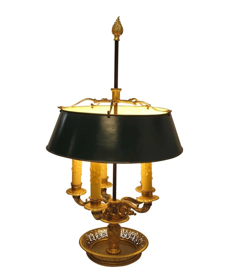 Gilt Bronze Bouillotte Lamp, French, 19th Century For Sale 2
