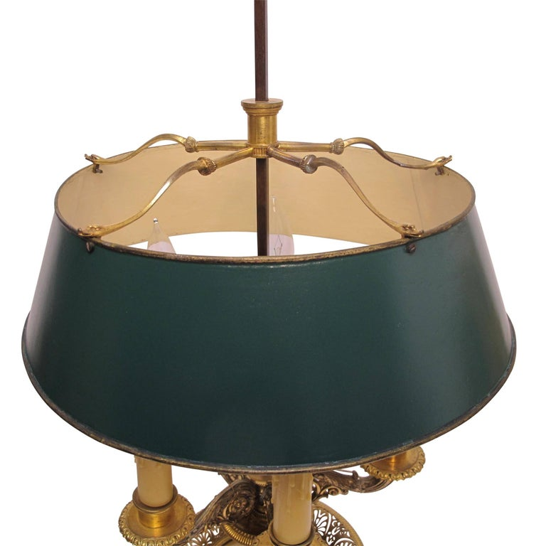 Gilt Bronze Bouillotte Lamp, French, 19th Century For Sale 3