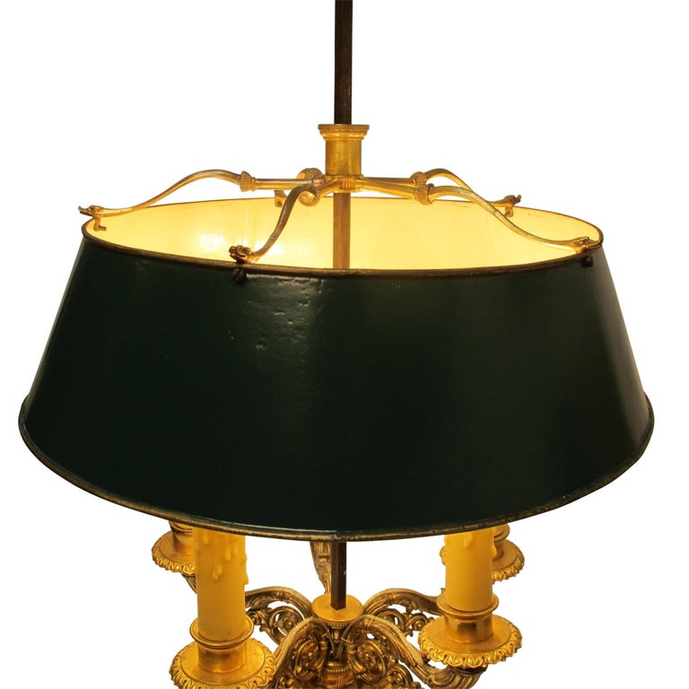 Gilt Bronze Bouillotte Lamp, French, 19th Century For Sale 6