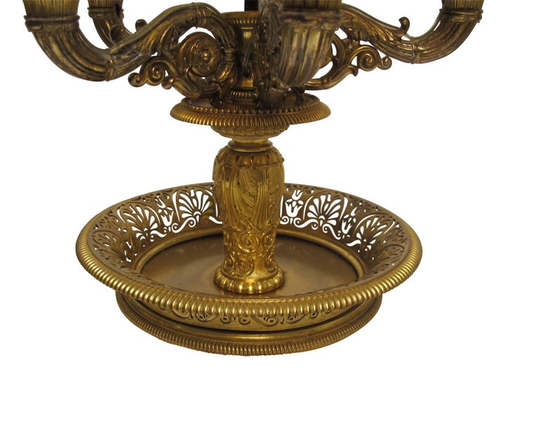 Gilt Bronze Bouillotte Lamp, French, 19th Century For Sale 1