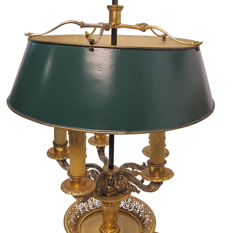 Gilt Bronze Bouillotte Lamp, French, 19th Century For Sale 7