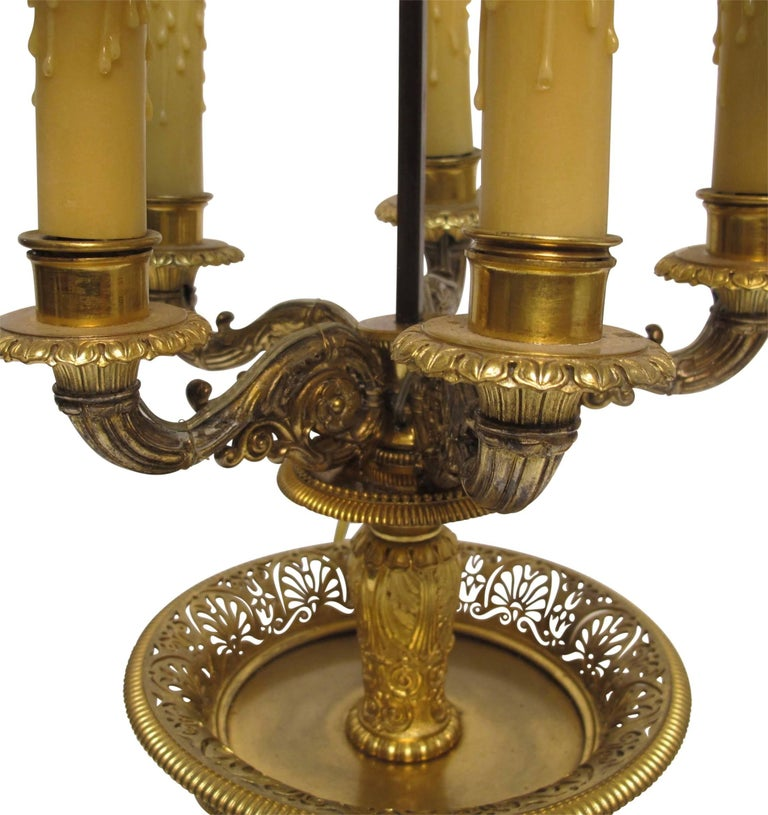 Gilt Bronze Bouillotte Lamp, French, 19th Century In Excellent Condition For Sale In San Francisco, CA