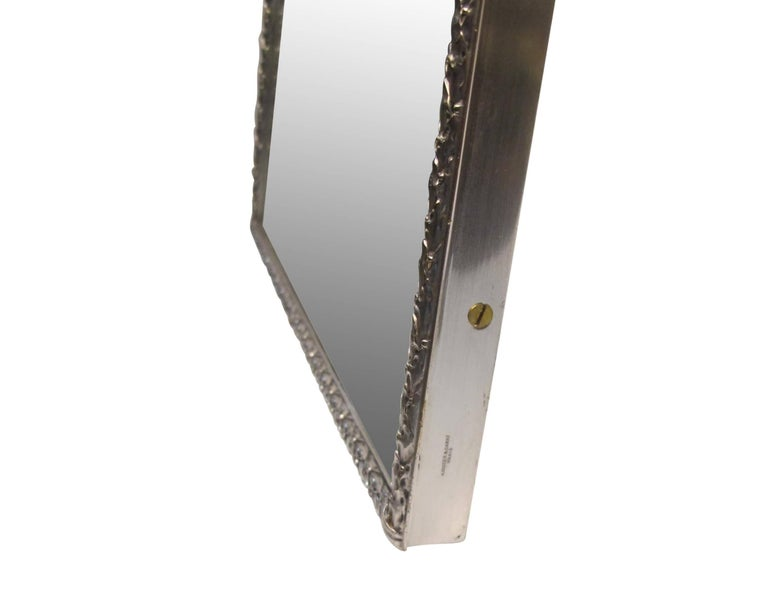 Silver Plated Bronze Dressing Table Mirror, French, Late 19th Century 7