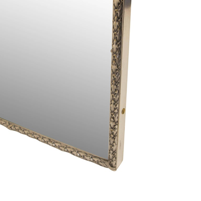 Silver Plated Bronze Dressing Table Mirror, French, Late 19th Century 4