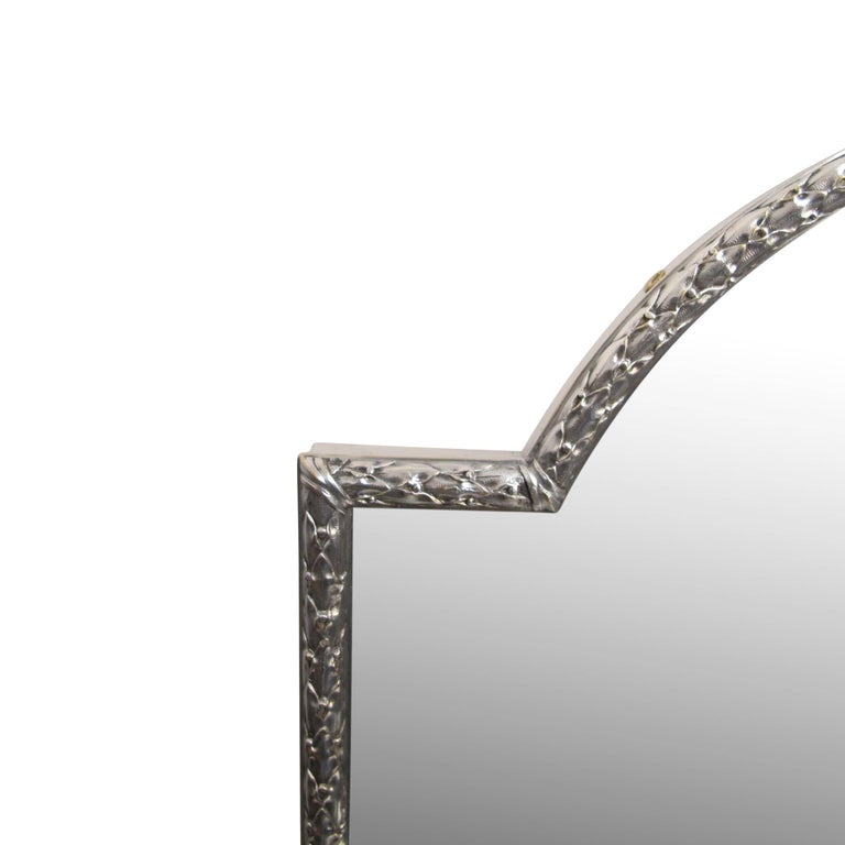 Silver Plated Bronze Dressing Table Mirror, French, Late 19th Century 5