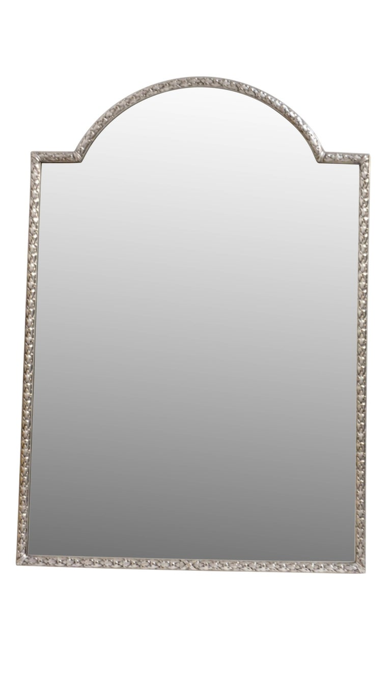 Silver Plated Bronze Dressing Table Mirror, French, Late 19th Century 3