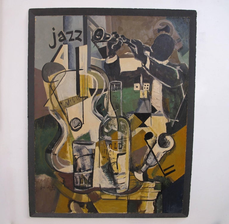 Midcentury Jazz Abstract Painting 9