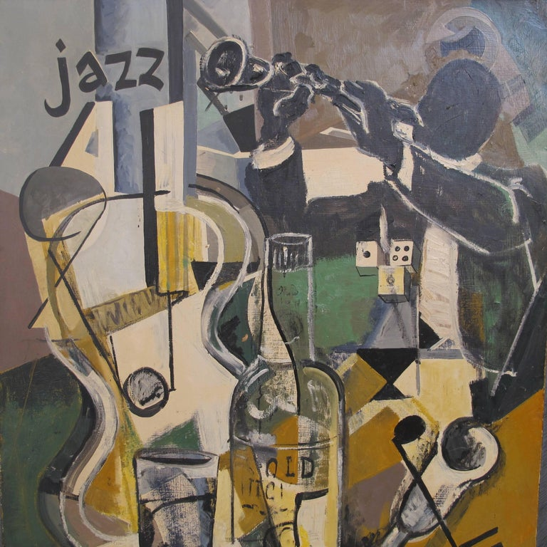 20th Century Midcentury Jazz Abstract Painting For Sale