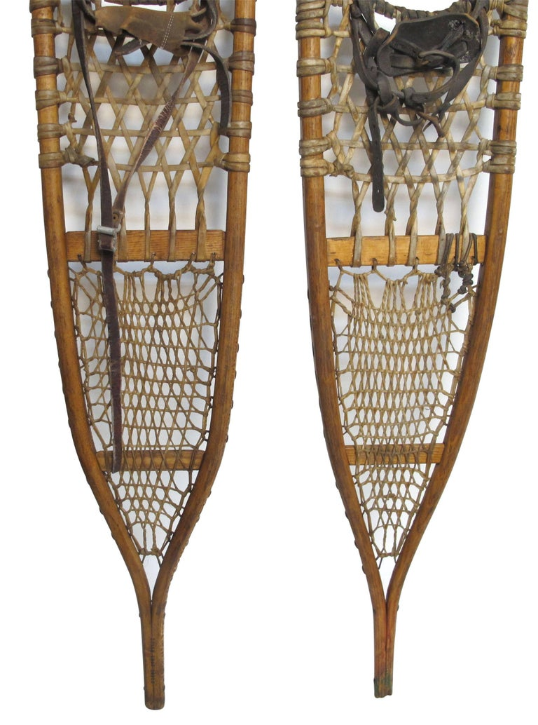 20th Century Pair of Antique Snowshoes, American, circa 1930 For Sale
