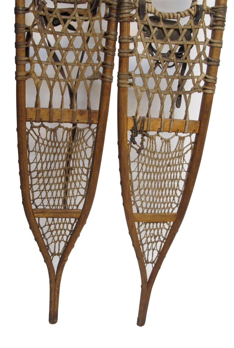Pair of Antique Snowshoes, American, circa 1930 For Sale 2