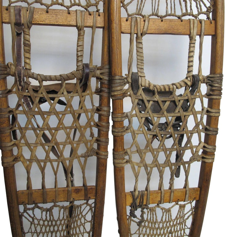 Pair of Antique Snowshoes, American, circa 1930 For Sale 4