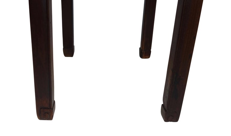19th Century Chinese Carved Wood Pedestal Stand For Sale 6