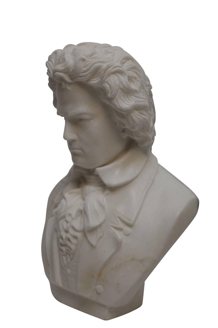 Carrera Marble Bust of Beethoven, 19th Century For Sale 3