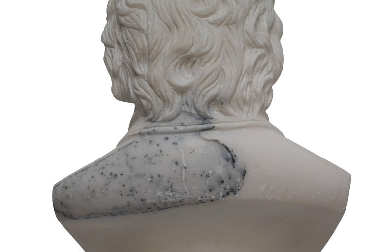 Carrera Marble Bust of Beethoven, 19th Century For Sale 4