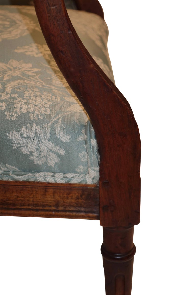 Pair of Neoclassical Walnut Armchairs, Italy, 18th Century For Sale 2