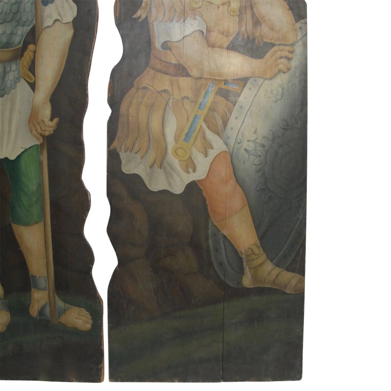 Opera or Theatre Hand-Painted on Wood Dummy Boards, 19th Century For Sale 2