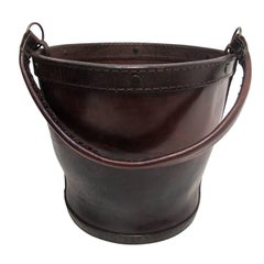 Leather Water or Feed Bucket, English 19th Century