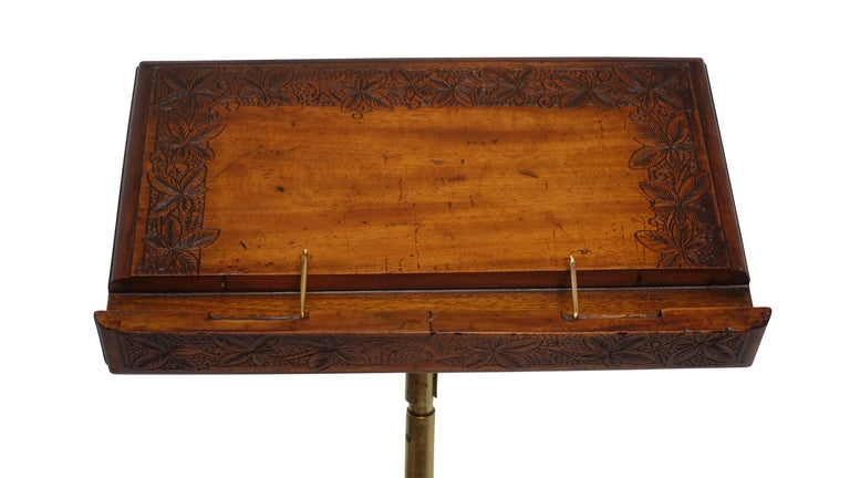 Cast Iron, Brass and Walnut Bookstand Podium, American, circa 1880 For Sale 1