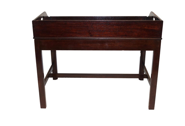Georgian Mahogany Butlers Tray on Stand Coffee Table, English, circa 1840 For Sale 1