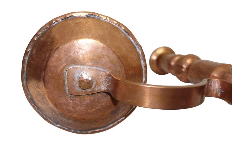 Hammered Copper Candleholders, Mexican, Early to Mid-20th Century For Sale 5