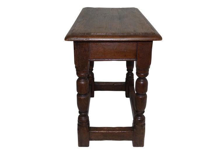 Antique Oak Stool, English, 19th Century For Sale 4