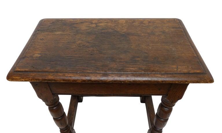 Antique Oak Stool, English, 19th Century For Sale 5