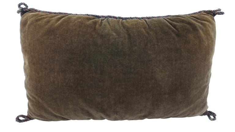 Wool 19th Century Tapestry Fragment Pillow For Sale