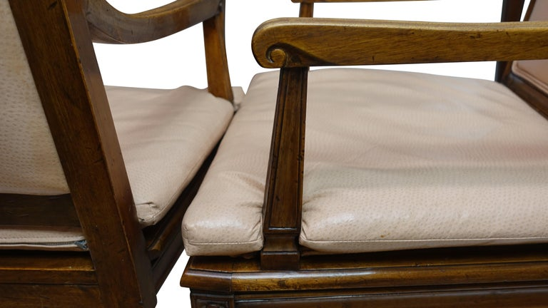 Set of Four Neoclassical Style Armchairs, Italian, Late 19th-Early 20th Century For Sale 3