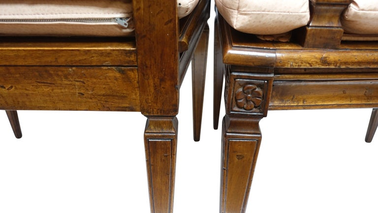Set of Four Neoclassical Style Armchairs, Italian, Late 19th-Early 20th Century For Sale 4