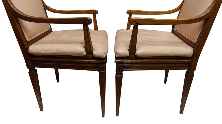 Set of Four Neoclassical Style Armchairs, Italian, Late 19th-Early 20th Century In Good Condition For Sale In San Francisco, CA