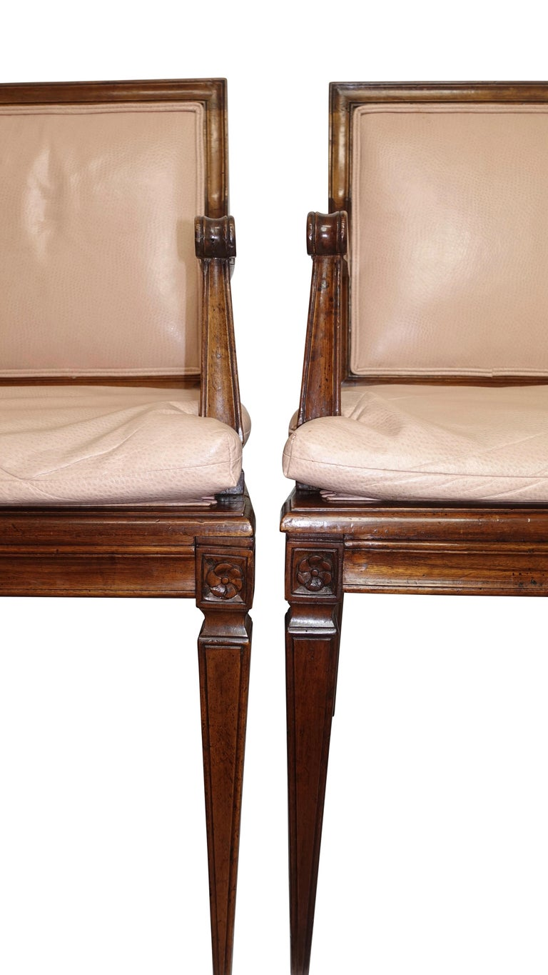 Set of Four Neoclassical Style Armchairs, Italian, Late 19th-Early 20th Century For Sale 1