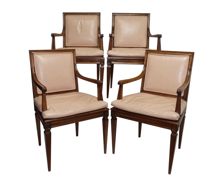 Set of Four Neoclassical Style Armchairs, Italian, Late 19th-Early 20th Century For Sale 5