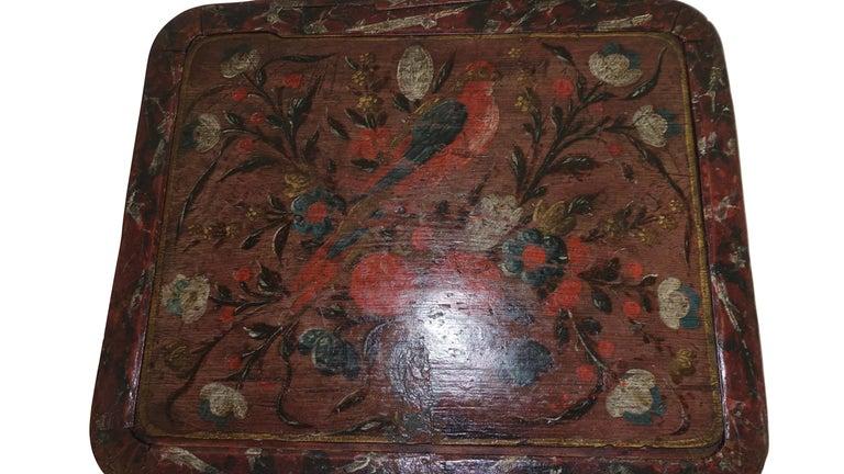 Wood Norwegian Scandinavian Painted Dowery Chest, circa 1800 For Sale