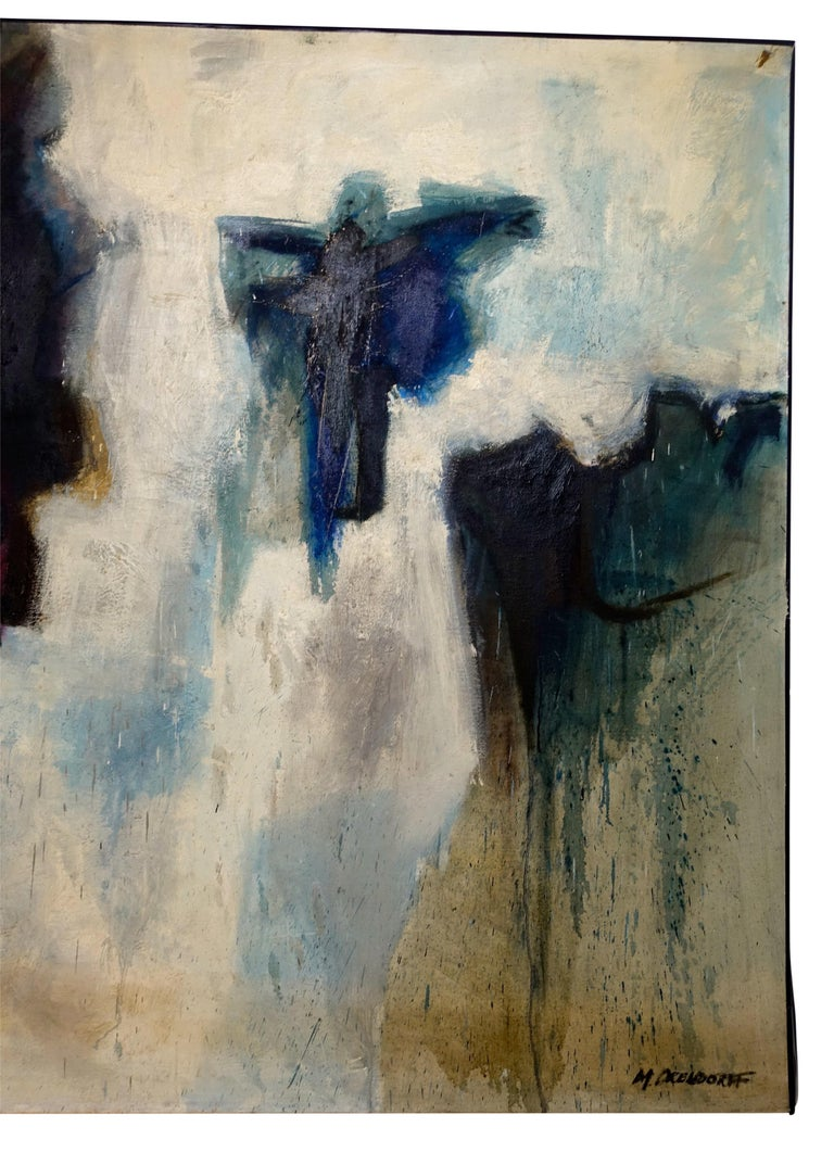 American Large Midcentury Abstract Expressionism Painting, California Bay Area Artist For Sale
