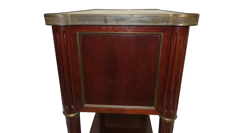 Louis XVI Style Mahogany Side Table Cabinet, French, 1940s For Sale 3
