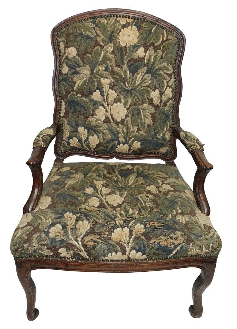 Walnut Fauteuil Armchair, Italian, 18th Century For Sale 4