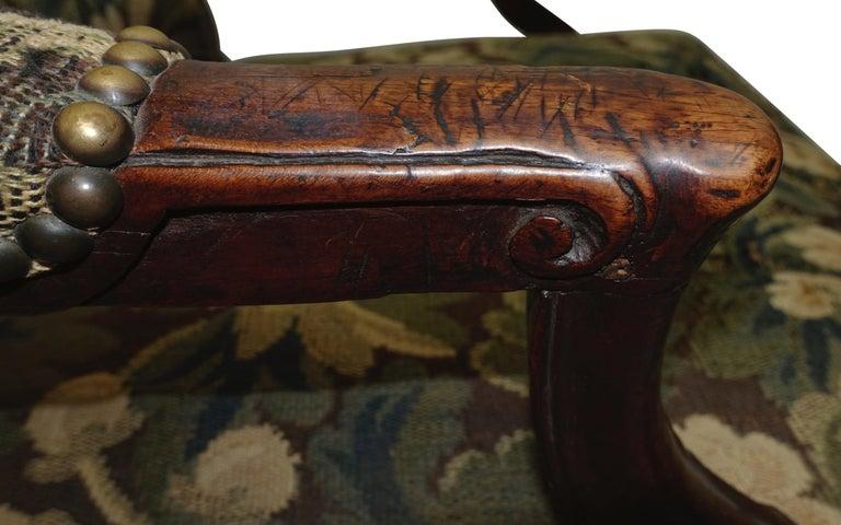 Walnut Fauteuil Armchair, Italian, 18th Century For Sale 1