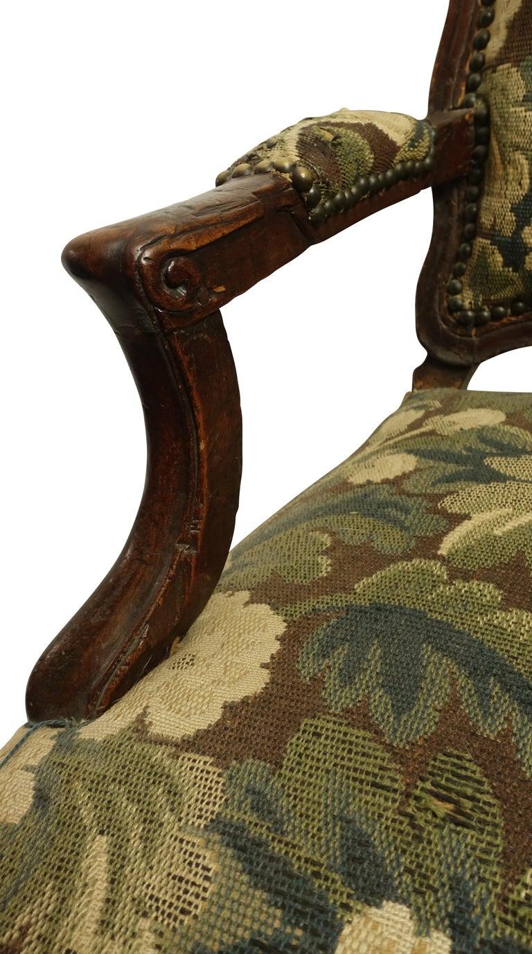 Walnut Fauteuil Armchair, Italian, 18th Century For Sale 2