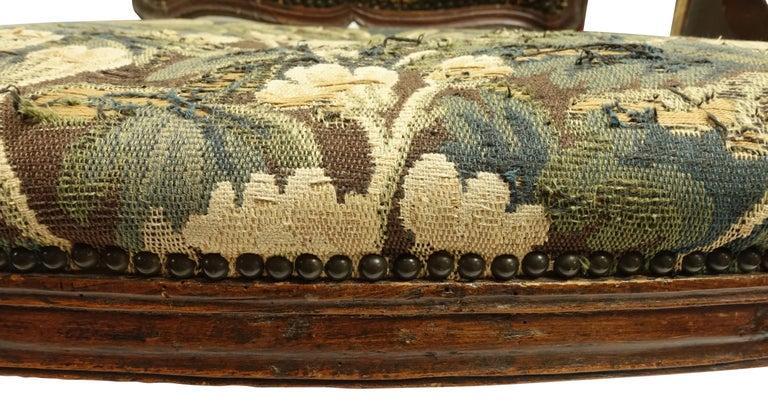 Walnut Fauteuil Armchair, Italian, 18th Century For Sale 5