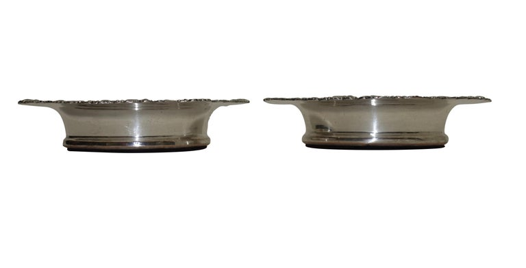 Pair of Sheffield Silver Plate Wine Coasters, England, 19th Century In Good Condition For Sale In San Francisco, CA