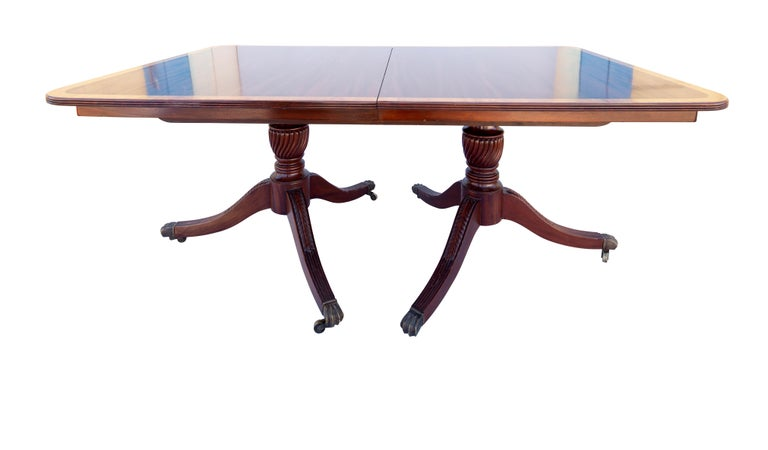 English George III Mahogany Banquet Dining Table, Early 19th Century For Sale 1