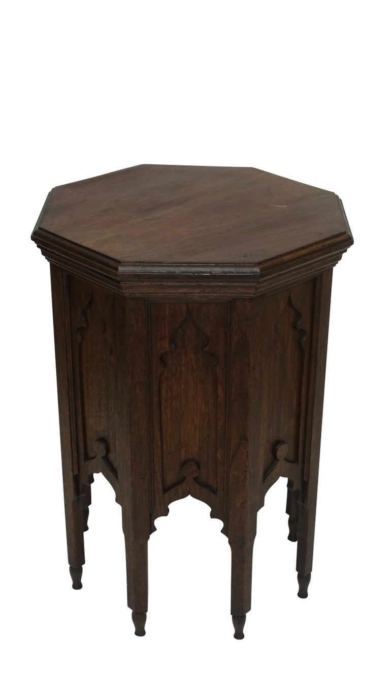 Moroccan Taboret Side Table, Early 20th Century For Sale 1