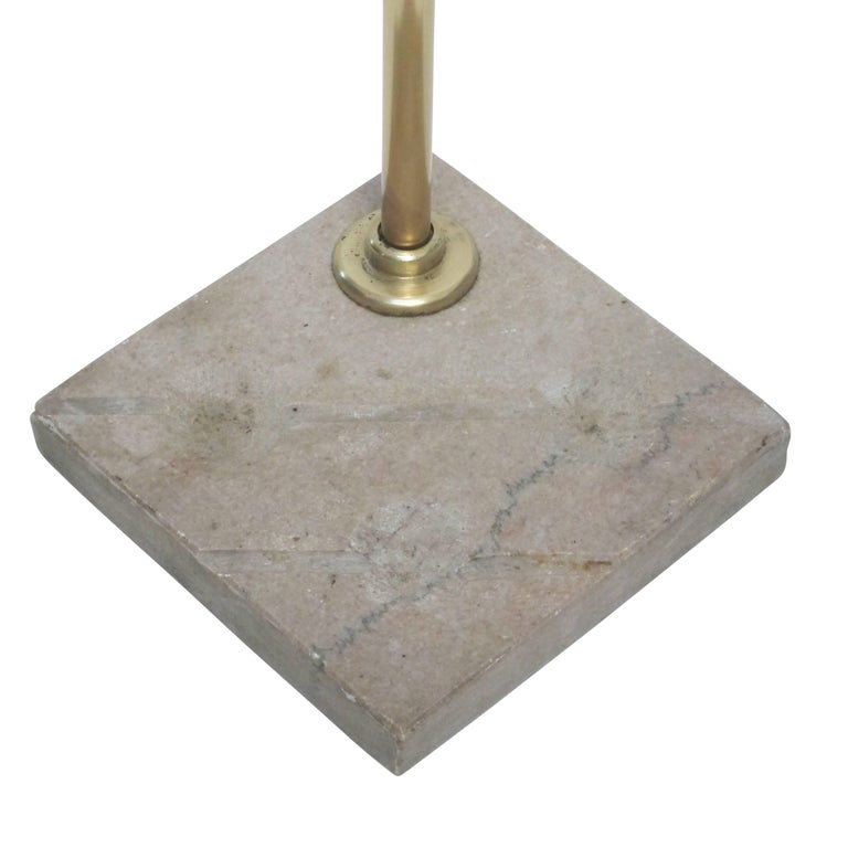 Georgian Brass and Steel Fireplace Tools with Marble Stand, Early 19th Century For Sale 6