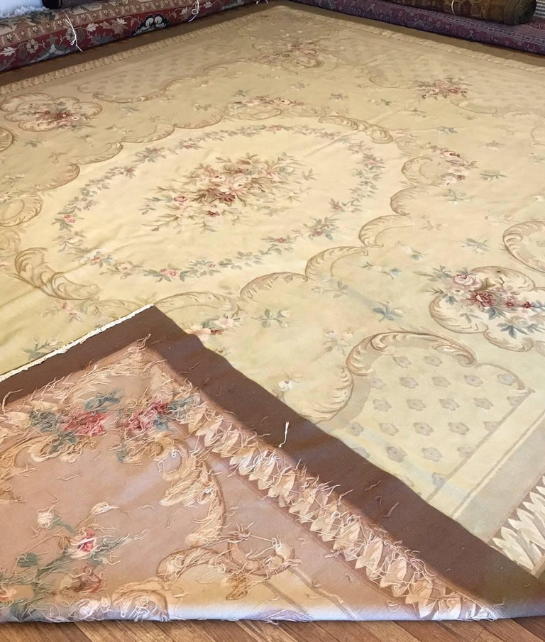 Antique French Aubusson Carpet For Sale 6