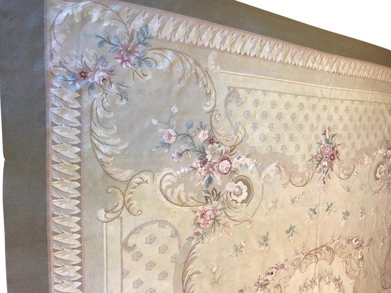 Antique French Aubusson Carpet For Sale 4